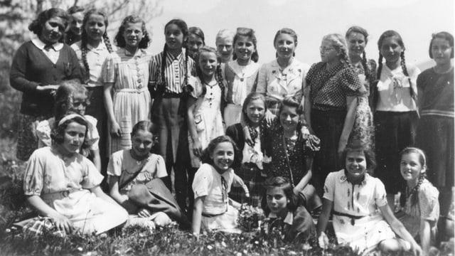 Bild der Schulklasse die 1942 mit dem Brief an den Bundesrat auf sich aufmerksam gemacht hat.