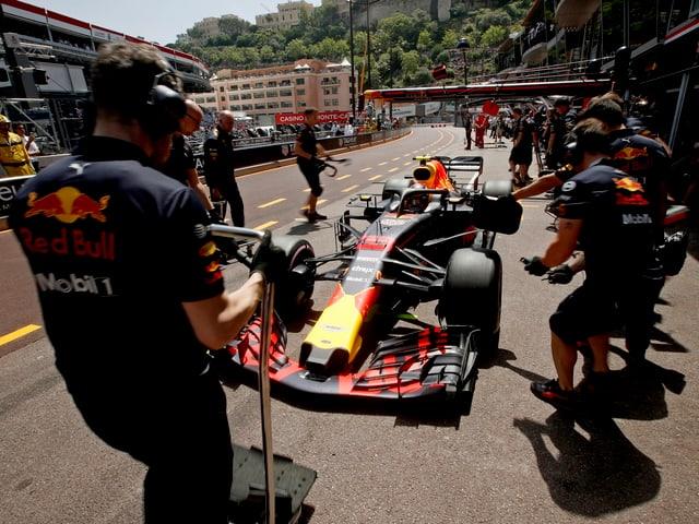Max Verstappen in Monaco.