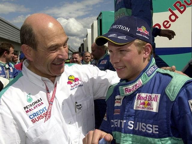 Kimi Räikkönen mit Peter Sauber.