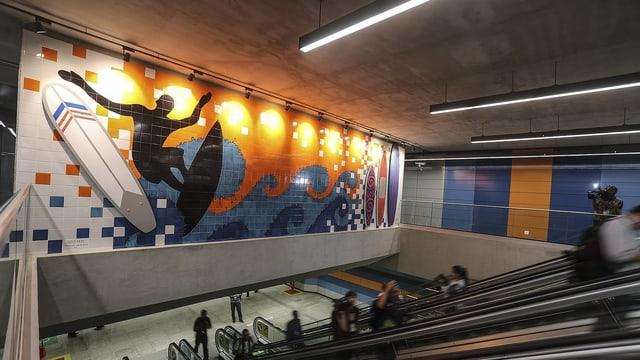 Die Hauptdurchgangsstation der neuen Metro Linie, die am 30. Juli eingeweiht wurde.