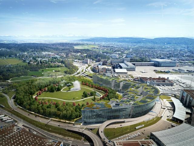 Gleich neben dem Flughafen liegt die Grossüberbauung «The Circle».