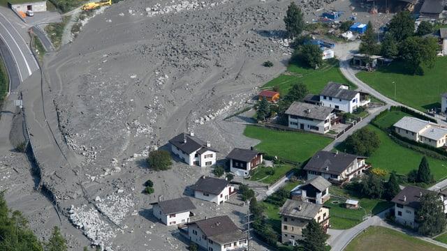 Das grösste Schadenereignis im letzten Jahr war der riesige Bergsturz in Bondo.