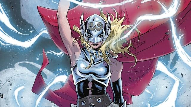 Das Bild zeigt die weibliche Comicfigur Thor.