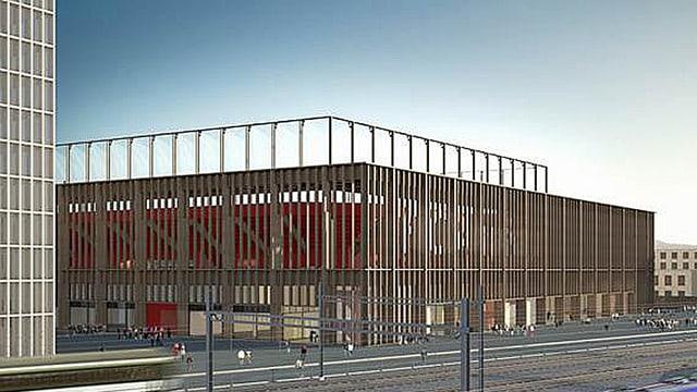 Neues Fussballstadion als Visualisierung