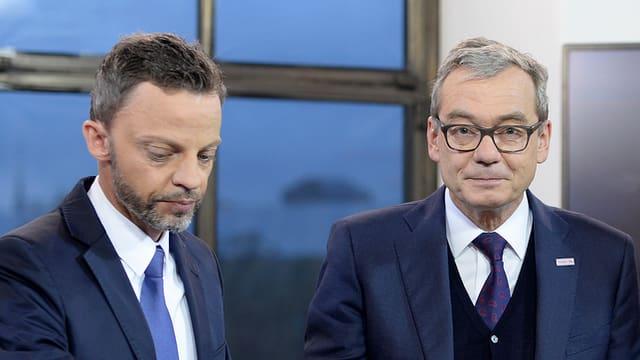 Sie wollen es beide nochmals wissen: SVP-Kandidat Hans-Ueli Vogt (l.) und FDP-Mann Ruedi Noser.
