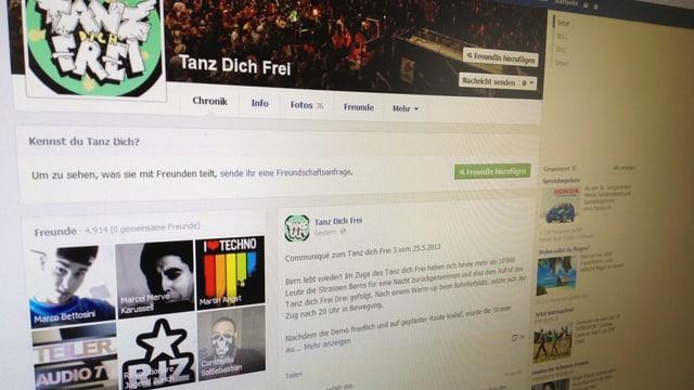 Bild der Facebook-Seite von «Tanz dich frei».
