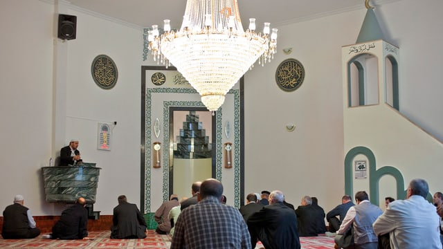 Purtret da l'intern da la moschea a Winterthur.