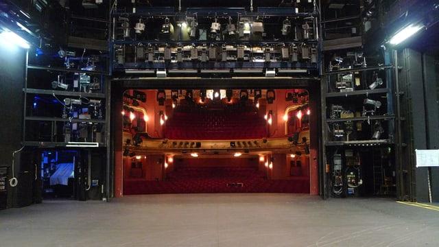Bühne von hinten