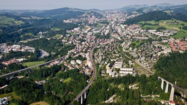 Luftaufnahme von St.Gallen