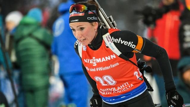 La biatleta Selina Gasparin.