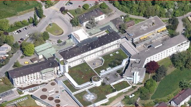 Das Spitalzentrum aus der Vogelperspektive.