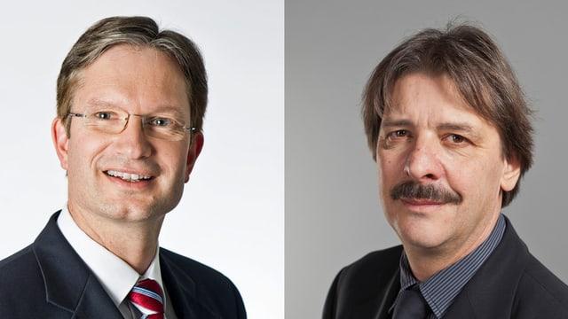 Porträts von Roland Müller und Paul Rechsteiner.
