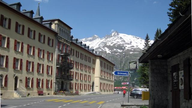 Das Hotel Glacier du Rohne in Gletsch.