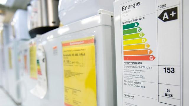 Energielabel bei Haushaltsgeräten
