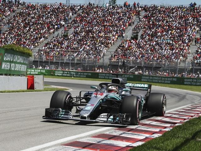 Der GP in Kanada, hier mit dem letzten Sieger Lewis Hamilton.