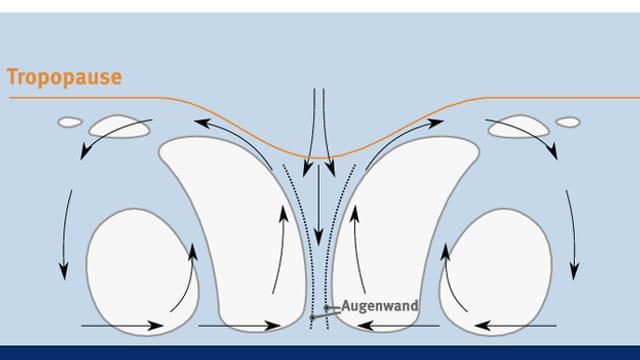 Struktur eines Wirbelsturms