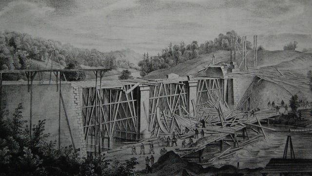 Historisches Bild Baustelle