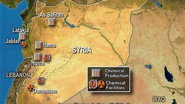Karte Syriens