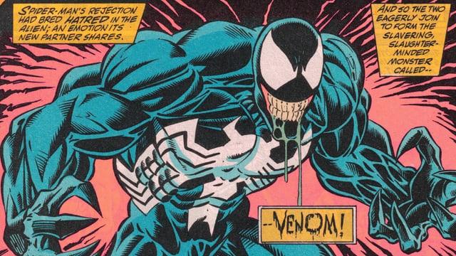 Der Alien Venom trat zuerst in einem «Spider-Man»-Comic auf.