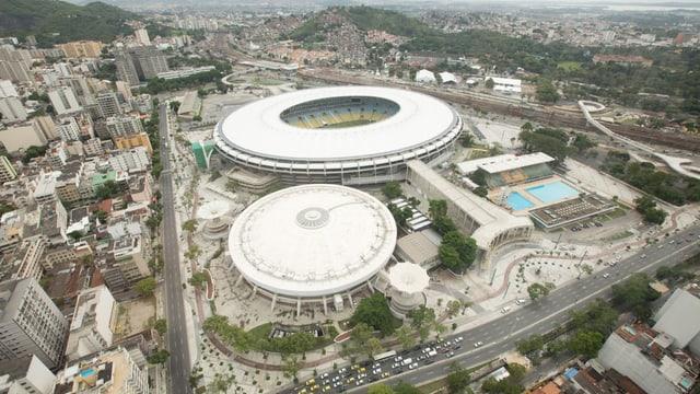 Das Maracana-Stadion aus der Vogelperspektive.