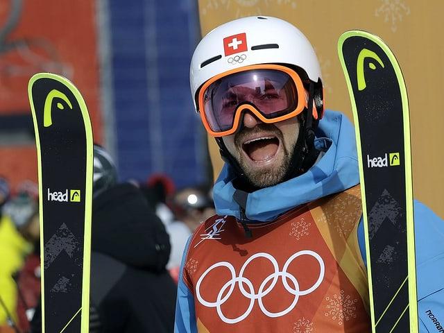 Jonas Hunziker hier zu sehen an den Olympischen Spielen 2018.