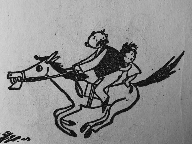 Zeichnung von E.O. Plauen aus «Vater und Sohn» Band 2