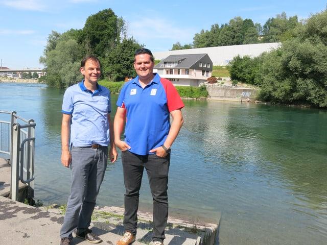 Ueli Bärtschi und Christoph Bättig an der Reuss