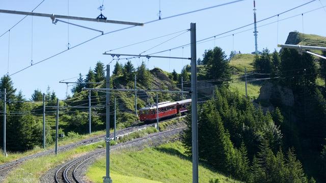 Die Zahnradbahn fährt nach der Steinschlaggefahr wieder bis Rigi Kulm.