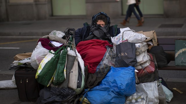 Obdachlose in Spanien