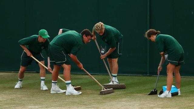 Die Rasenpfleger in Wimbledon.