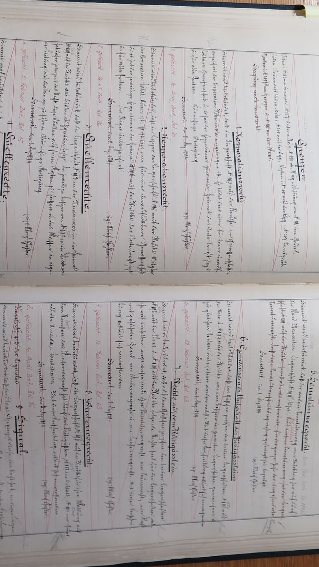 aufgeschlagenes Grundbuch von Hundwil