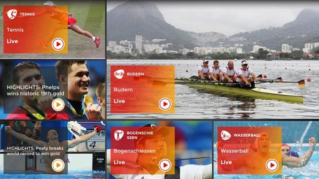 Screenshot SRF Rio App