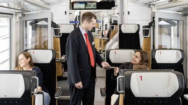 Conductur en il tren da la Viafier sidost.