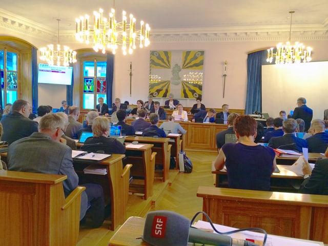 Der Landratssaal im Urner Rathaus.