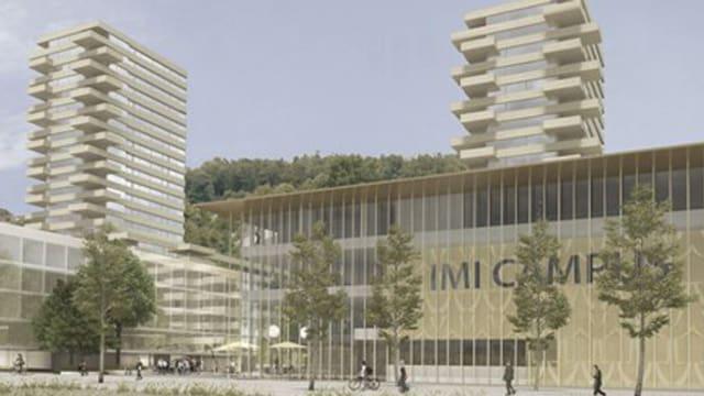 Visualisierung der beiden geplanten Hochhäuser in Kriens.