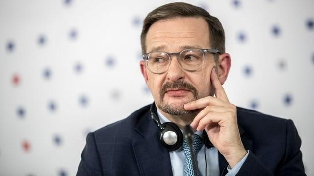 Zu sehen ist ex OSZE-Generalsekretär Thomas Greminger.
