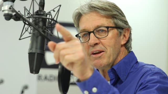 Bernhard Russi: Schweizer Skilegende und Pistenbauer in Sotschi.