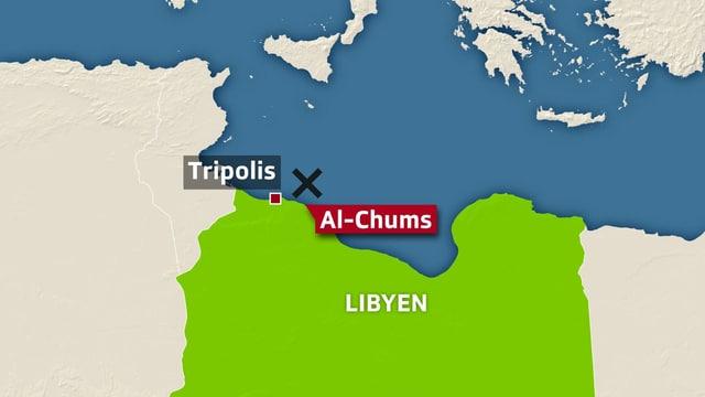 Karte mit Al-Chums.
