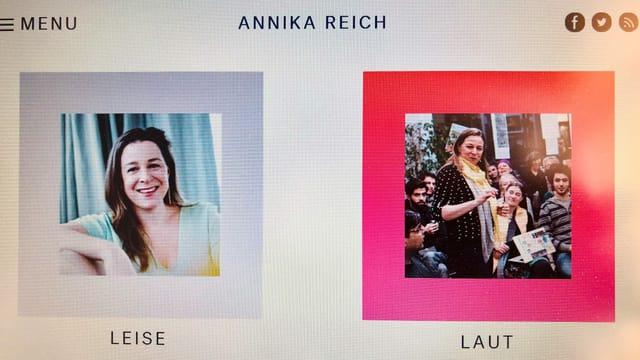 Foto von Annika Reichs Webseite