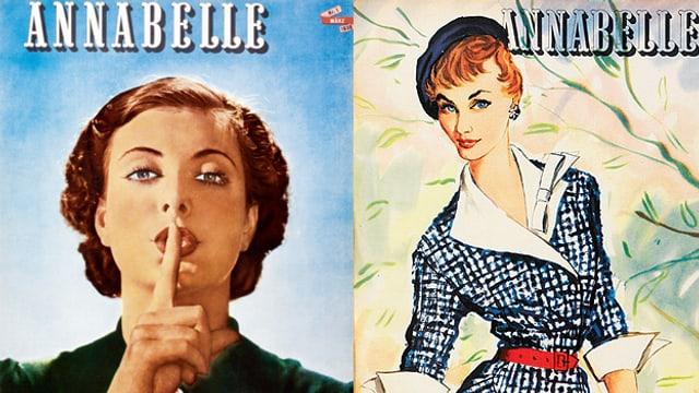 Zwei alte Covers der Zeitschrift Annabelle