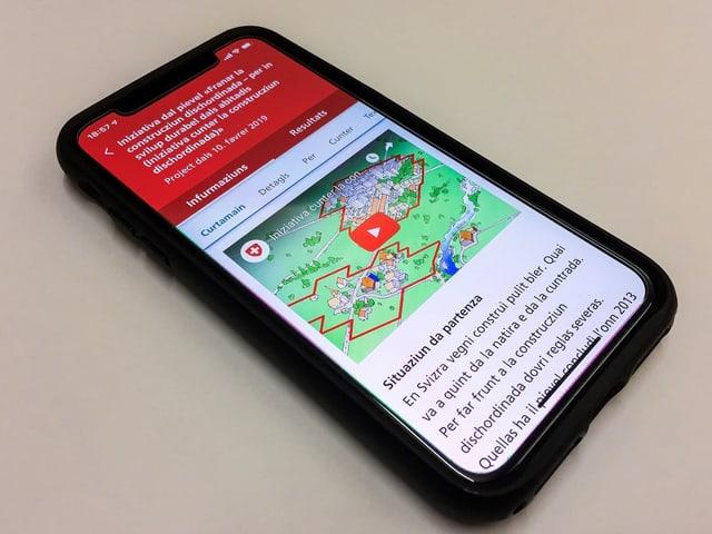 La app VoteInfo sin in telefonin.