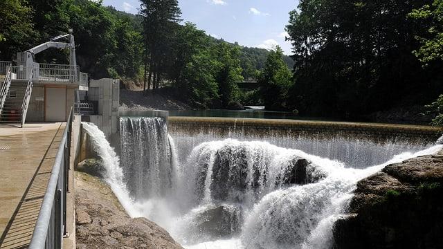 Flusskraftwerk Trempel bei Krummenau