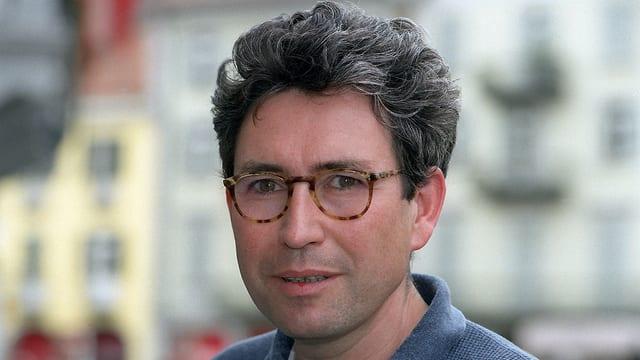 Porträt des Drehbuchautors Bruno Moll, aufgenommen am Filmfestival Locarno 1995.