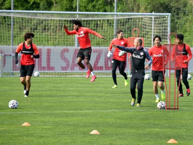 Salzburg-Training Ende April 2020.