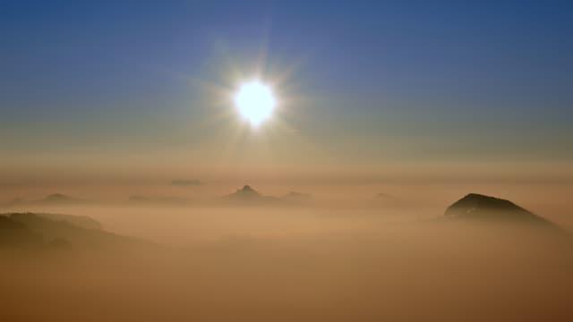 Der Passwang war am 20. März knapp über der Nebelschicht!