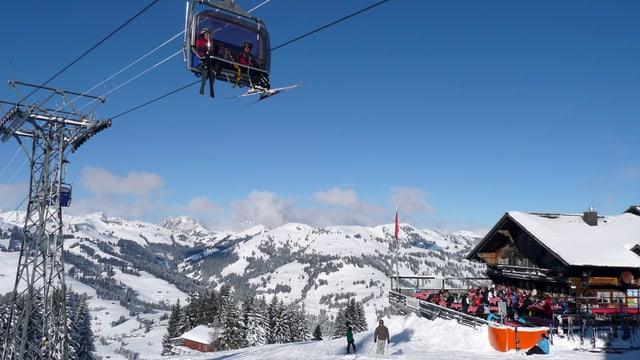 Horneggli, ein Teil der Gstaader Bergbahnen