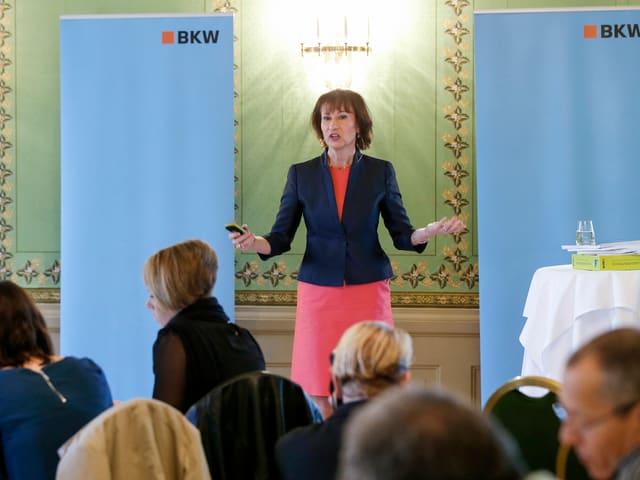 Suzanne Thoma leitete ab 2010 den Geschäftsbereich Netze der BKW, bevor sie 2013 zur CEO ernannt wurde.