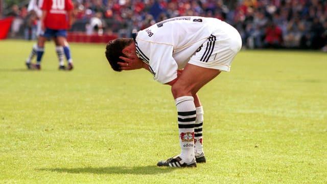 Michael Ballack nach dem verlorenen «Finale» 2000 in Unterhaching.