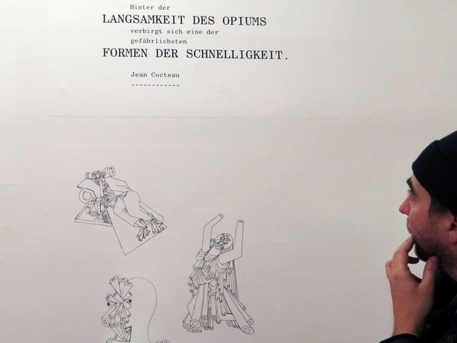 Jean Cocteau zeichnete unter dem Einfluss von Opium.