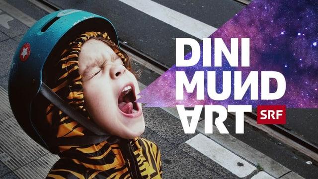 """Kind mit Helm und Tigerkostüm schreit """"Dini Mundart"""""""